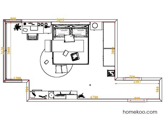 平面布置图贝斯特系列卧房A5147