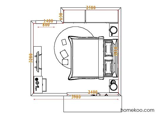 平面布置图德丽卡系列卧房A5168