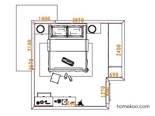 平面布置图斯玛特系列卧房A5169