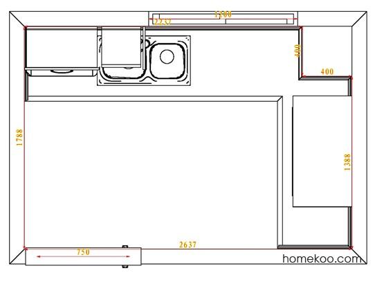 平面布置图格瑞丝系列厨房F4147