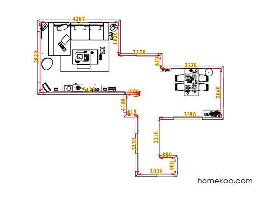平面布置图柏俪兹系列客餐厅G1277