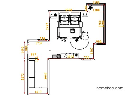 平面布置图乐维斯系列卧房A5202