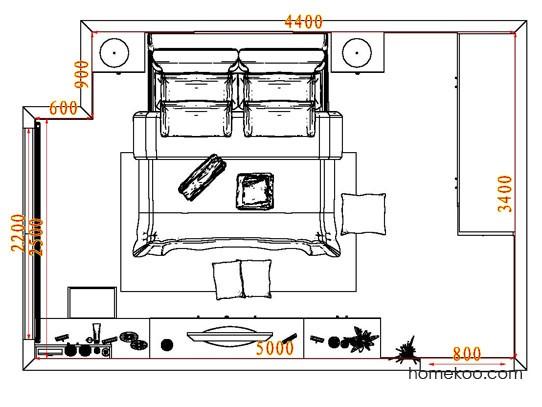 平面布置图乐维斯系列卧房A5217