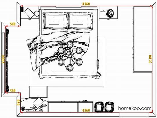 平面布置图乐维斯系列卧房A5230
