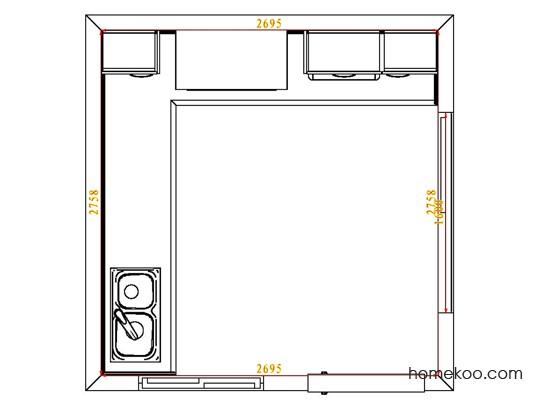 平面布置图格瑞丝系列厨房F4172