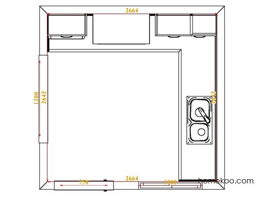 平面布置图贝斯特系列厨房F4173