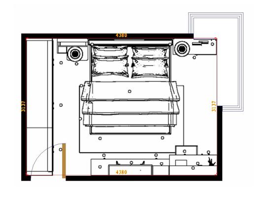 平面布置图乐维斯系列卧房A5251