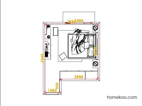 平面布置图乐维斯系列卧房A5257