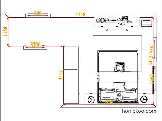 平面布置图德丽卡系列卧房A5259