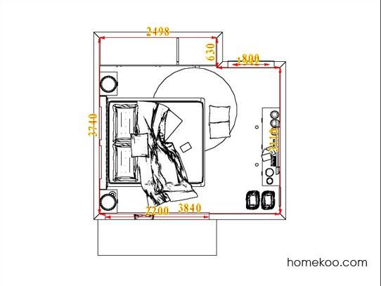 平面布置图斯玛特系列卧房A5260