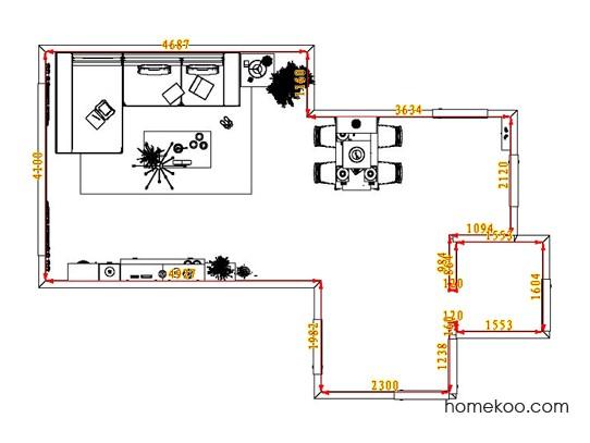 平面布置图德丽卡系列客餐厅G1294