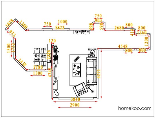 平面布置图斯玛特系列客餐厅G1296