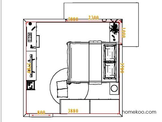 平面布置图斯玛特系列卧房A5273