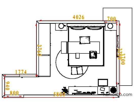 平面布置图贝斯特系列卧房A5277