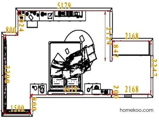 平面布置图德丽卡系列卧房A5305