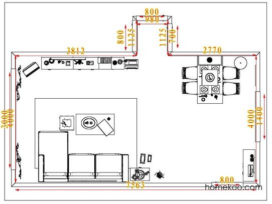 平面布置图乐维斯系列客餐厅G1313