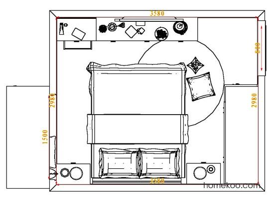 平面布置图格瑞丝系列卧房A5324