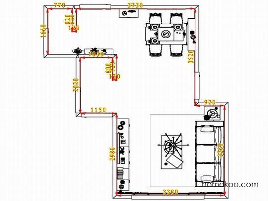 平面布置图德丽卡系列客餐厅G1324
