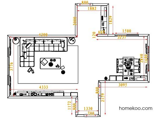 平面布置图贝斯特系列客餐厅G1333