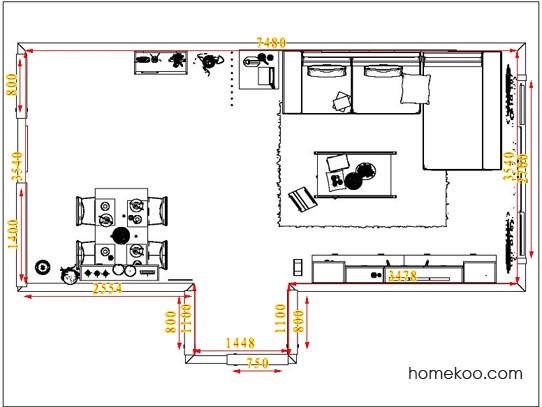 平面布置图德丽卡系列客餐厅G1340