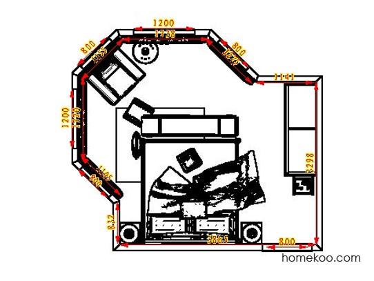 平面布置图柏俪兹系列卧房A5389