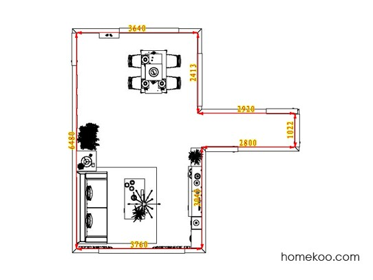 平面布置图乐维斯系列客餐厅G1342
