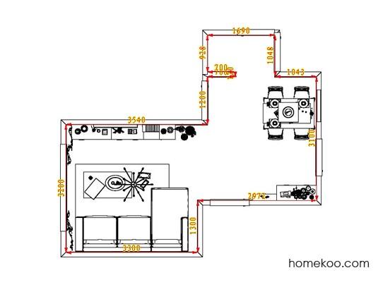 平面布置图德丽卡系列客餐厅G1344