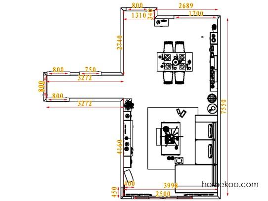 平面布置图乐维斯系列客餐厅G1346