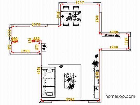 平面布置图斯玛特系列客餐厅G1349