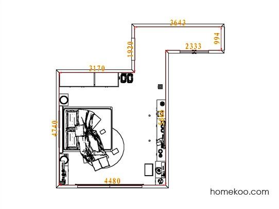 平面布置图贝斯特系列卧房A5409