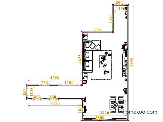 平面布置图德丽卡系列客餐厅G1354