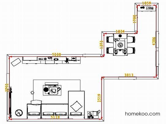 平面布置图德丽卡系列客餐厅G1358