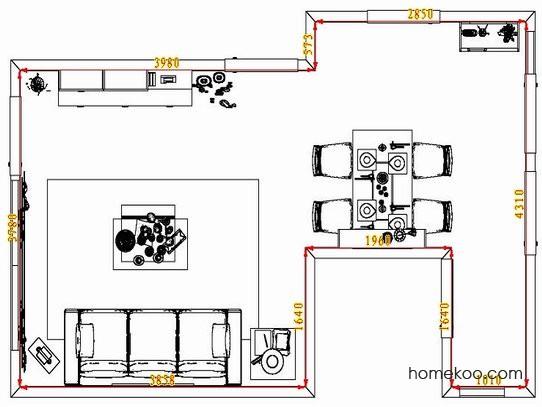 平面布置图柏俪兹系列客餐厅G1360