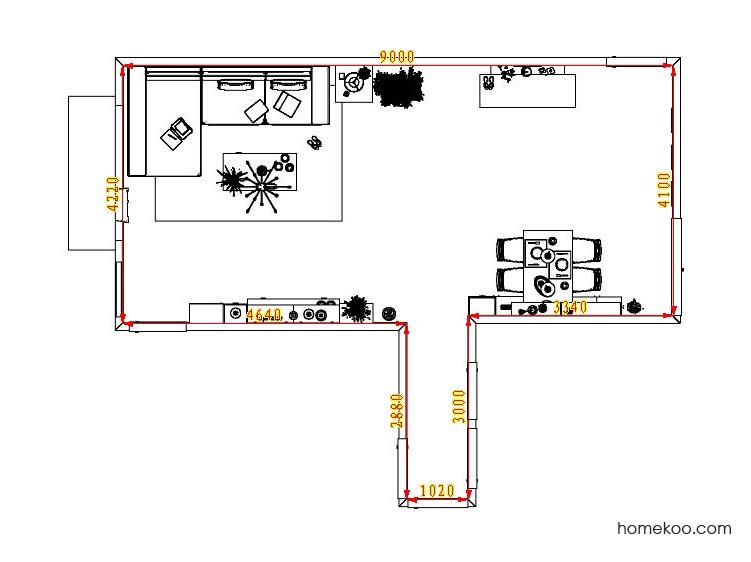 平面布置图乐维斯系列客餐厅G1362