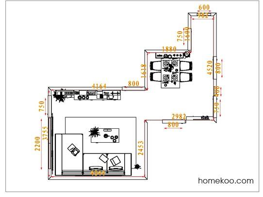 平面布置图斯玛特系列客餐厅G1364