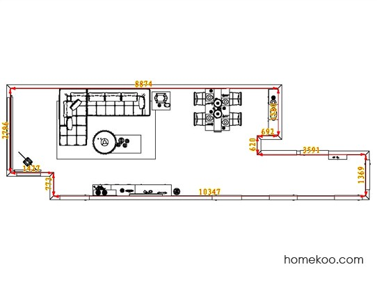 平面布置图格瑞丝系列客餐厅G1368