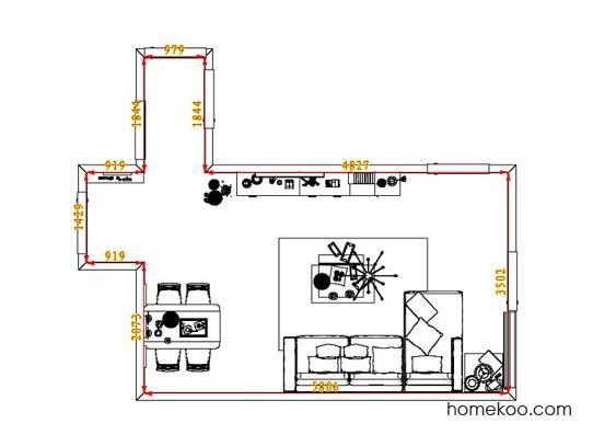 平面布置图德丽卡系列客餐厅G1369