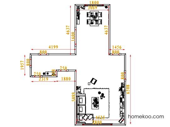 平面布置图乐维斯系列客餐厅G1370