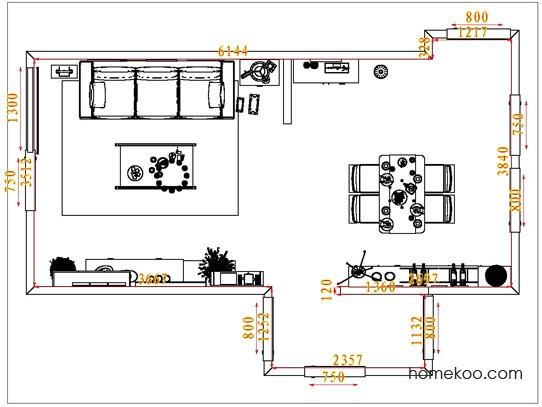 平面布置图柏俪兹系列客餐厅G1374