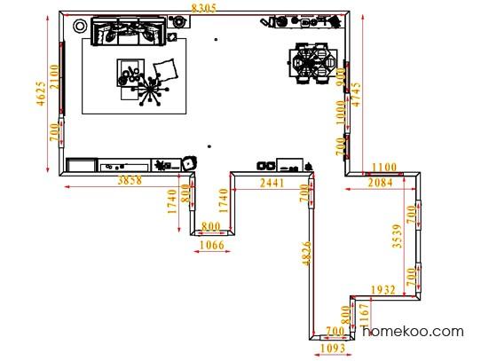 平面布置图柏俪兹系列客餐厅G1380