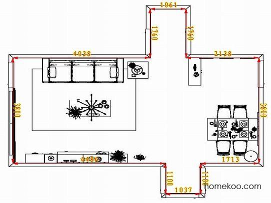 平面布置图格瑞丝系列客餐厅G1389