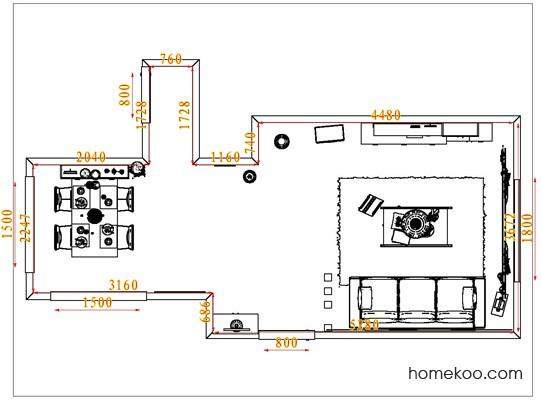 平面布置图柏俪兹系列客餐厅G1399