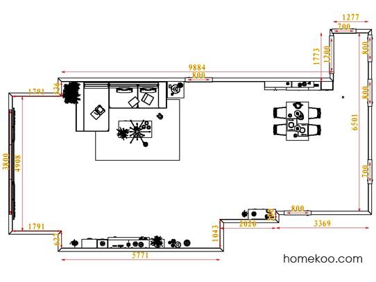 平面布置图贝斯特系列客餐厅G1403