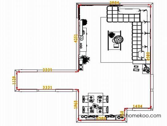 平面布置图斯玛特系列客餐厅G1407