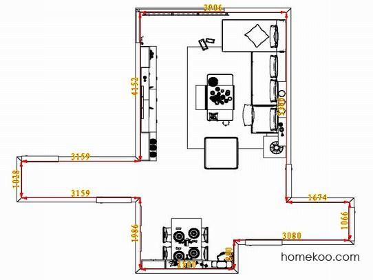 平面布置图斯玛特系列客餐厅G1408