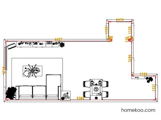 平面布置图格瑞丝系列客餐厅G1412