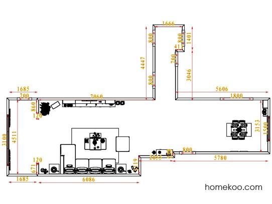 平面布置图柏俪兹系列客餐厅G1421
