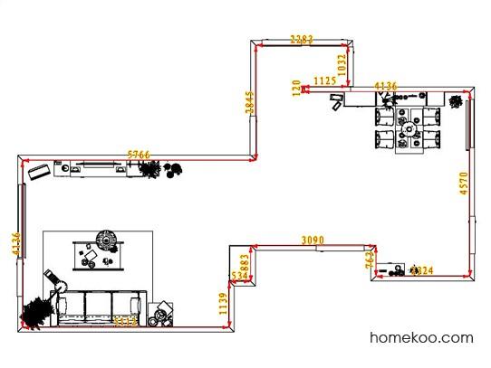 平面布置图贝斯特系列客餐厅G1431