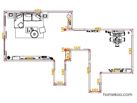 平面布置图贝斯特系列客餐厅G1440