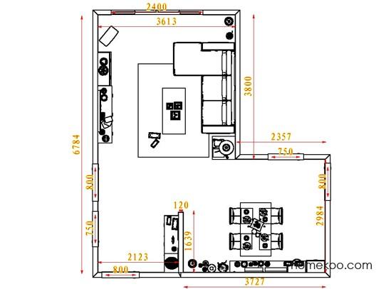平面布置图柏俪兹系列客餐厅G1442